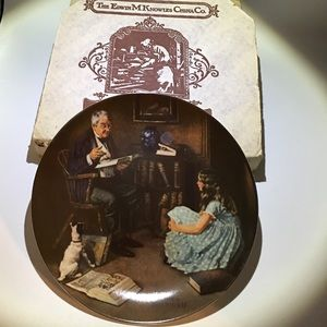 Norman Rockwell Collector Plate - The Storyteller